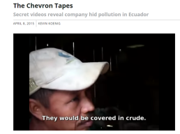 Chevron agent interviews poor farmer. Explains why tapes were hidden.