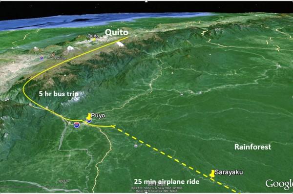 Quito to Sarayaku